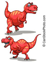 Tyrannosaurus rex with sharp teeth illustration