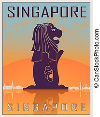 Singapore vintage poster