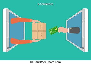 E-commerce flat vector concept.