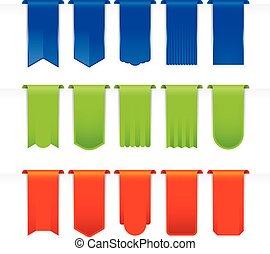 Ribbons Big Set full color - Ribbons Big Set, Isolated On...