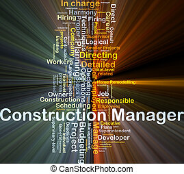Construction manager background concept glowing - Background...