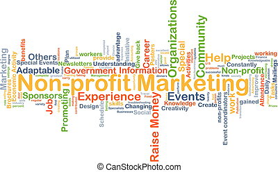 Non-profit marketing background concept - Background concept...