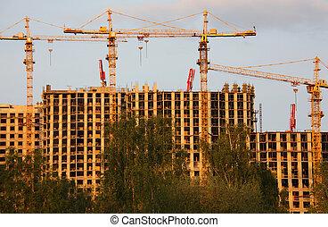 建筑物, 建設, 在下面