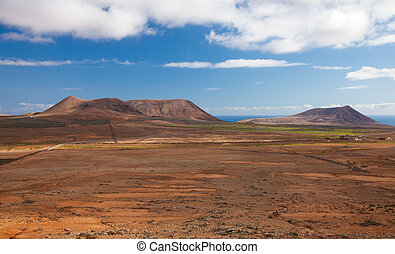 Inland Fuerteventura, northern part of the island, Montana...