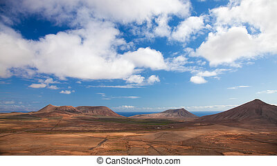 Inland Fuerteventura, northern part of the island, Monatan...