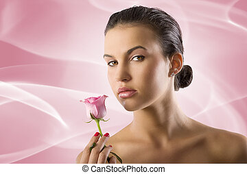 girl with rose