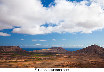 Inland Fuerteventura, northern part of the islands, Monatan...