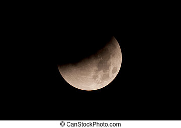 Total Lunar Eclipse on Sept 28, 2015, observed in Kiel,...