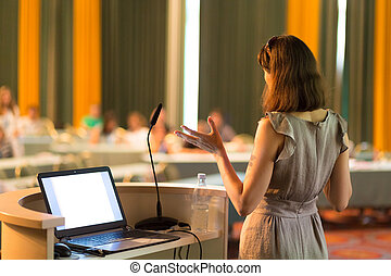 Speaker at Business Conference and Presentation. - Female...