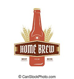 Beer emblem - Vintage emblem or logo Homebrew. Vector...