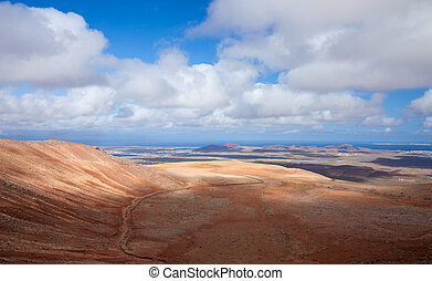 Inland Fuerteventura, view north from Montana de Ecanfraga,...