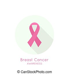 Breast Cancer Awareness Ribbon.   pink.