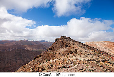 Inland Fuerteventura, view south-west from Montana de...