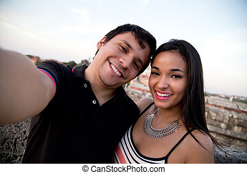 selfie - couple taking a selfie