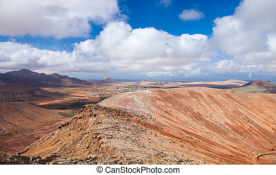 Inland Fuerteventura, view west from Montana de Ecanfraga,...