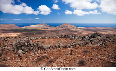 Inland Fuerteventura, northern part of the islands, ruins of...
