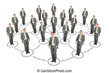 hombre de negocios, cooperación, Sistema, esquema,...