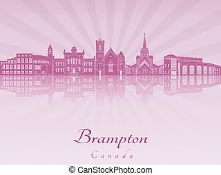 Brampton skyline in purple radiant orchid.eps - Brampton...