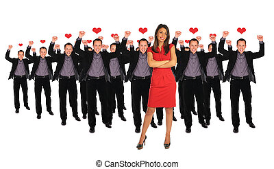 Young businessman. Yeah! - one woman and men collage