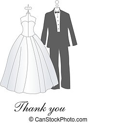 bride and groom dresses