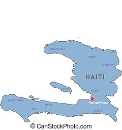 Haiti map in vector