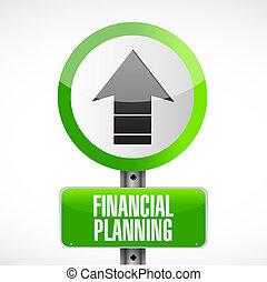 financial planning road sign concept illustration design...