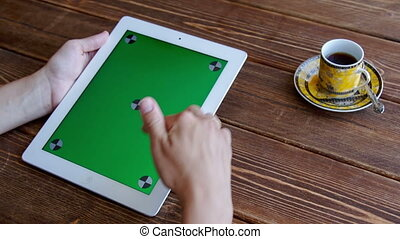 Using tablet pc touchscreen