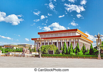 Mao Zedong mausoleum on Tiananmen Square- the third largest...