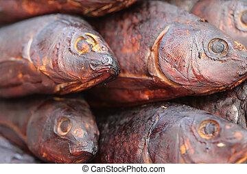 Lot of smoked fish - A lot of smoked fish, Carp Fish