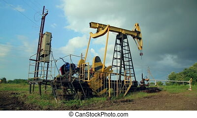 Working oil pumps oil industry equipment