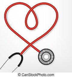 Heart shape stethoscope