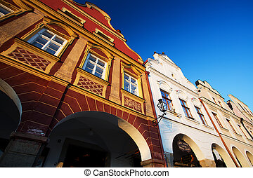 Traditional Houses in Town of Telc, Czech republic