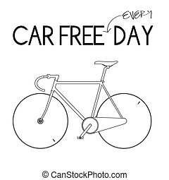 Car Free Everyday-White