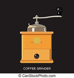 Coffee Grinder for Coffee Beans on Black