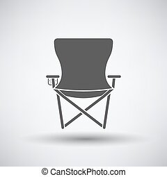 Fishing Chair Icon - Fishing icon with folding chair over...