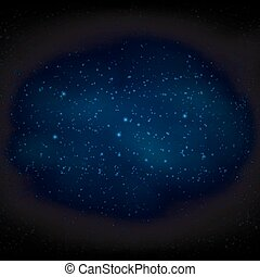 Milky Way space background - Vector Illustration Of Milky...