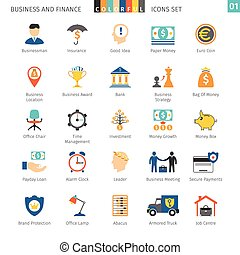 Business Set - Business and FIinance Colorful Icons Set