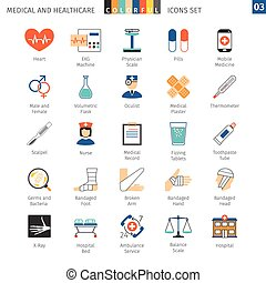 Medical Colorful Icons Set 03 - Medical and Health Care...