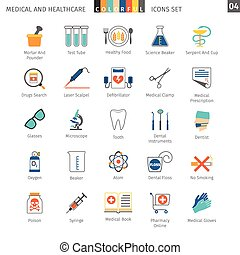 Medical Colorful Icons Set 04 - Medical and Health Care...