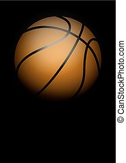 Dark Background of basketball Vector Illustration - Dark...