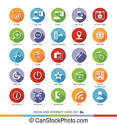 Social Media Flat Icons Set 04 - Social Media And Network...