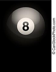 Dark Background of billiard ball Vector Illustration - Dark...
