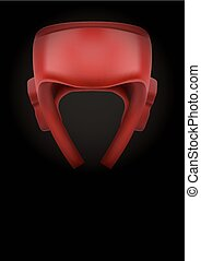 Dark Background of boxing helmet Vector Illustration - Dark...