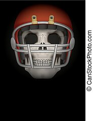 Dark Background of american football Vector Illustration -...