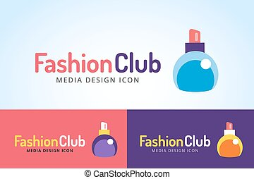 Perfume bottle sign icon logo glamour perfume symbol...