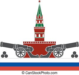 russian kremlin stencil vector illustration