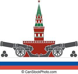russian kremlin. stencil. vector illustration