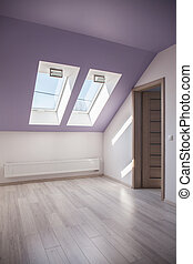 Spacious attic with floor panels - Photo of spacious attic...