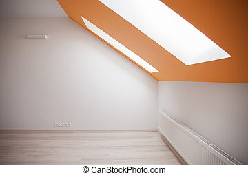 Attic interior with two windows - Photo of attic interior...
