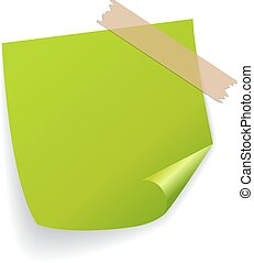 Green vector sticker on white background